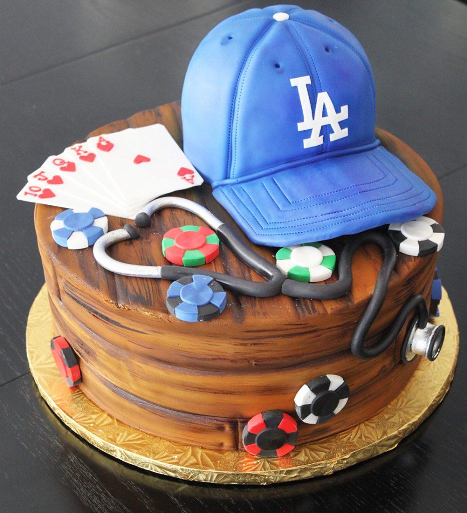 Poker & Sports Groom's Cake