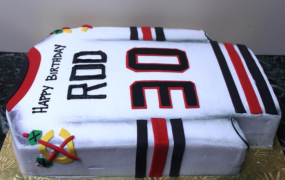 Blackhawks Jersey Cake