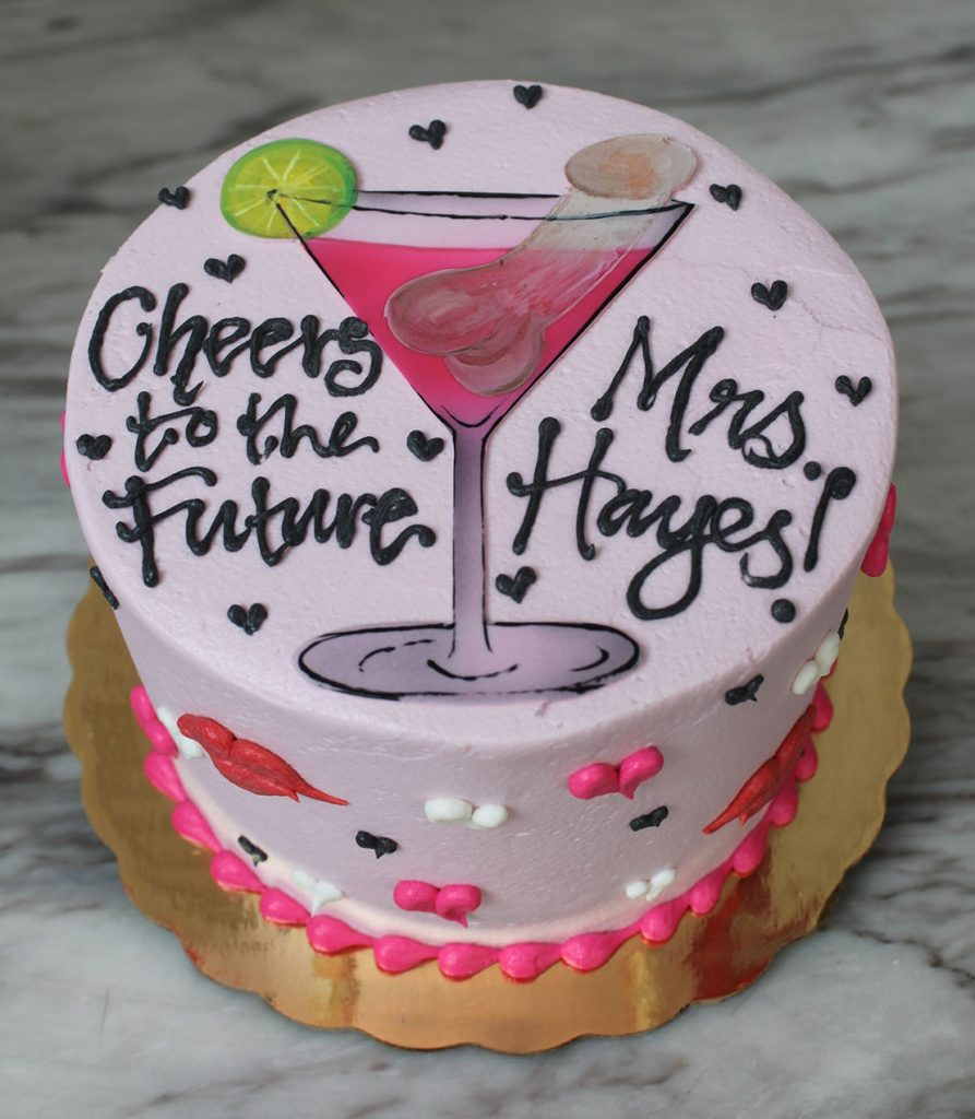 Bachelorette Cosmopolitan Cake