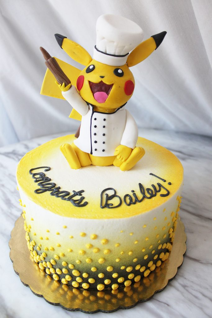 Pastry Chef Pikachu Cake