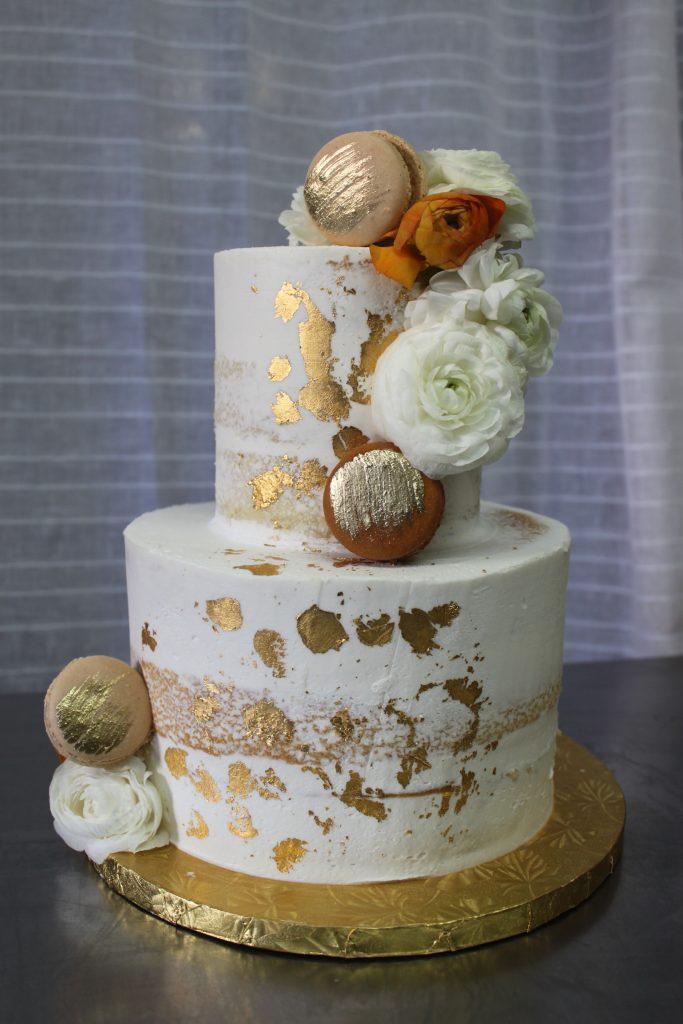 Semi-Naked Gold Foil Cake