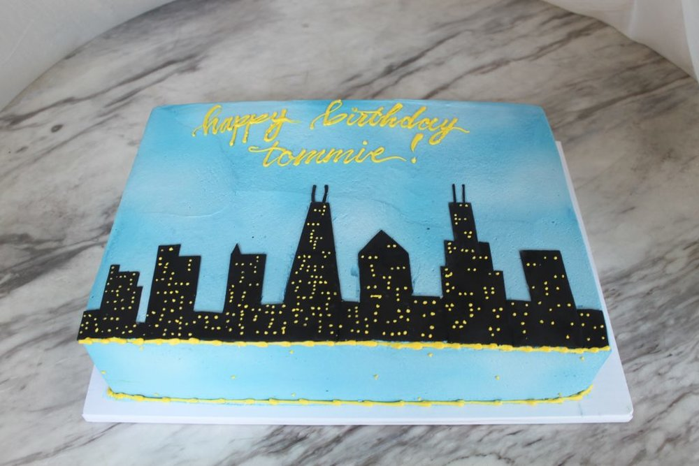 Chicago Skyline Sheet Cake