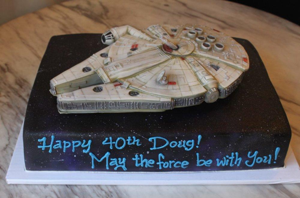 Millennium Falcon Sheet Cake