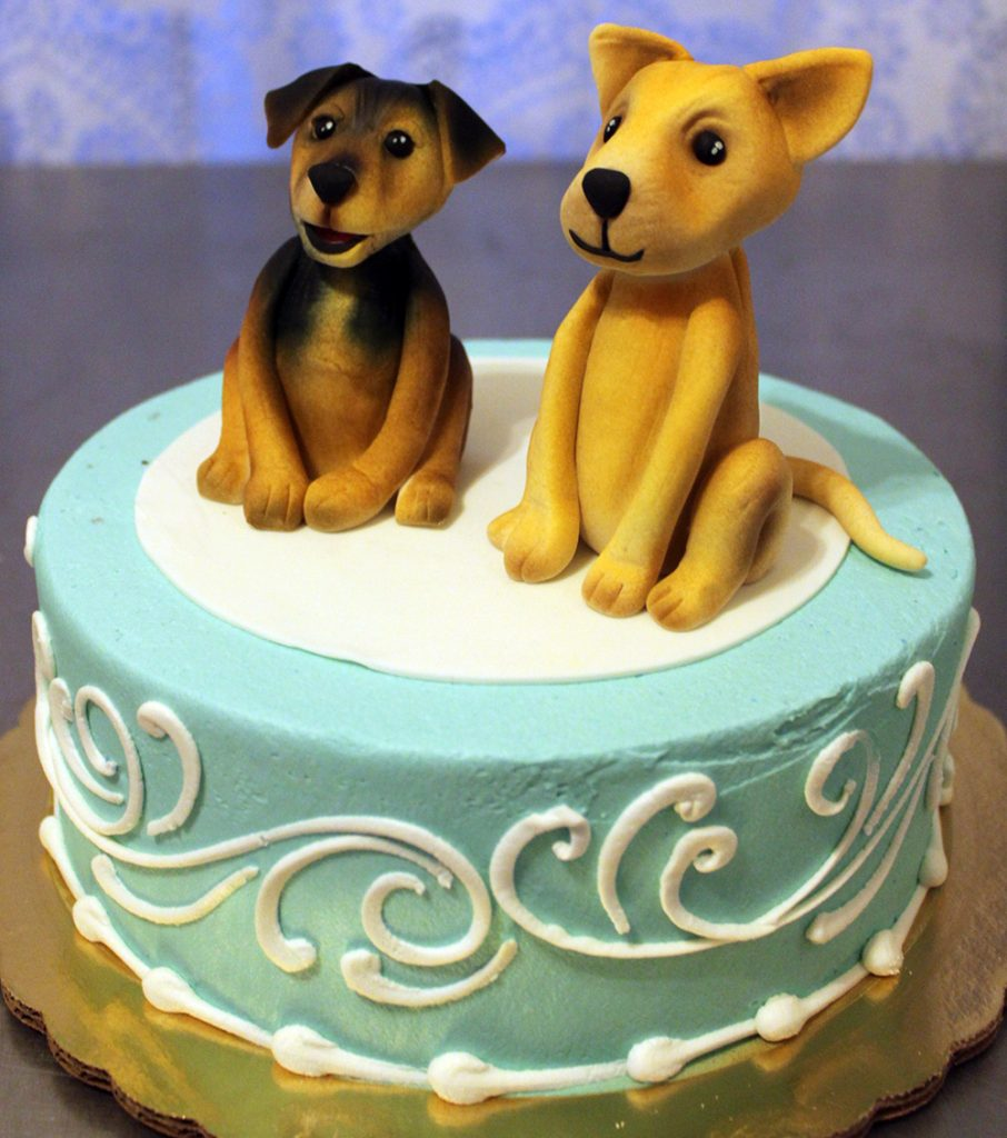 Two Puppies Cake