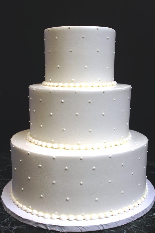Single Dot Wedding Cake