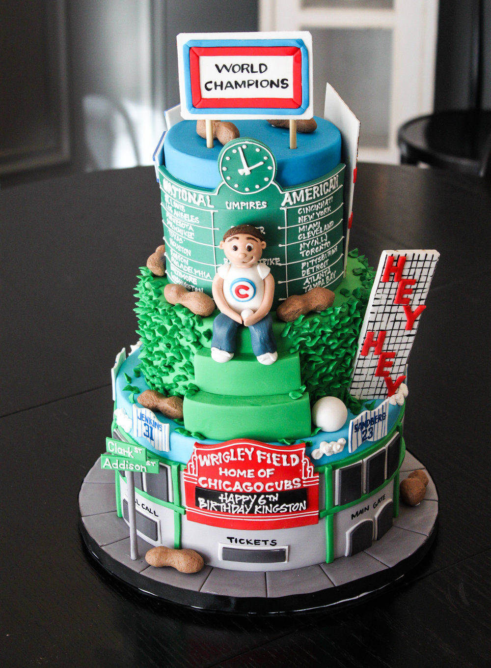 Chicago Cubs Fan Cake