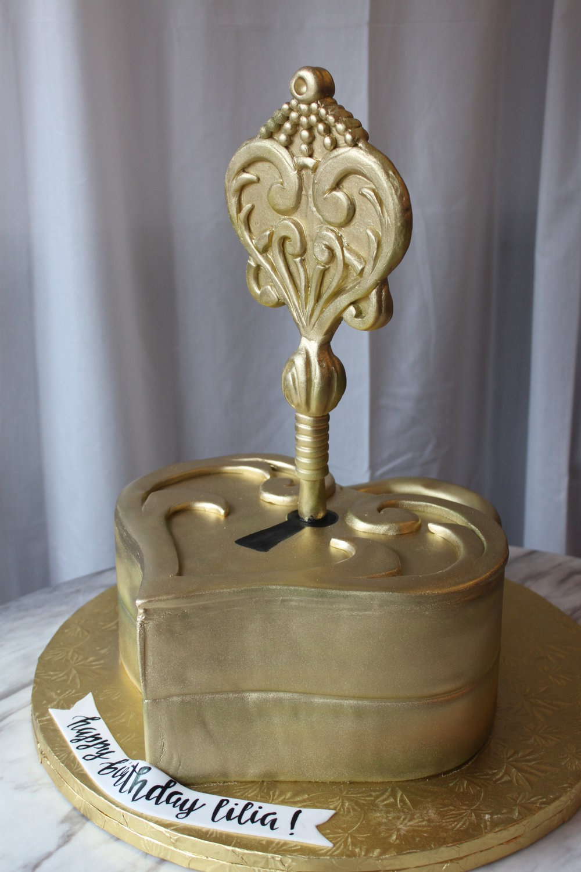 Lock & Key Cake