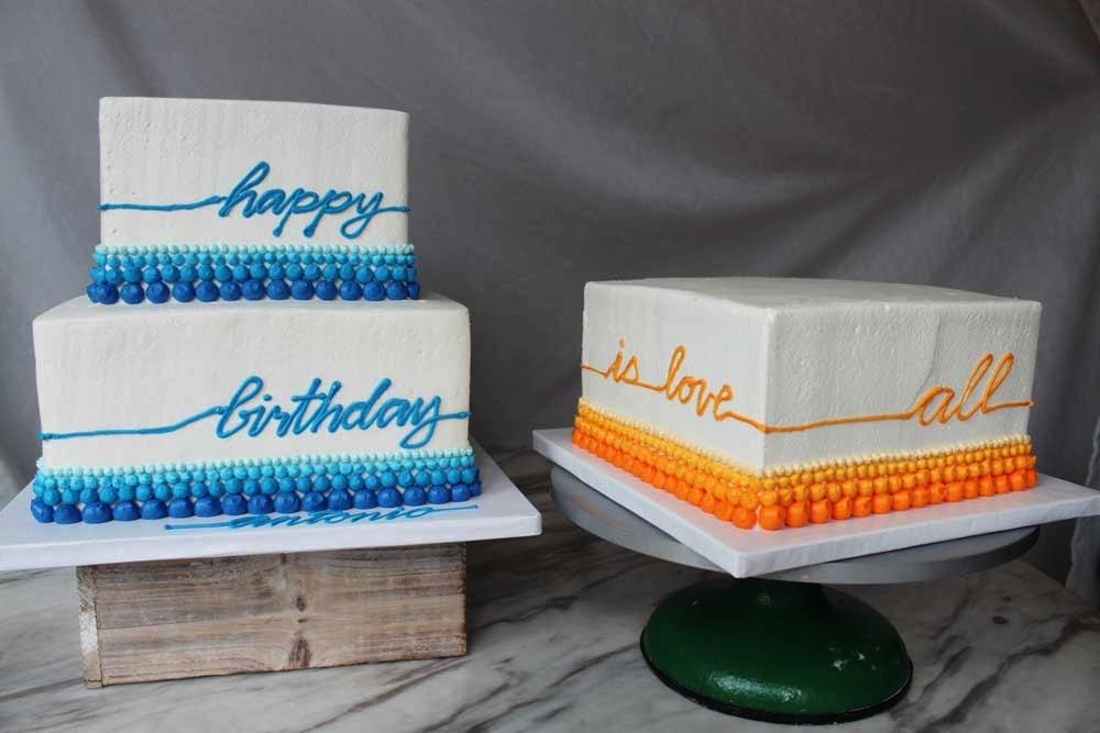 Birthday Buttercream Dot Cake