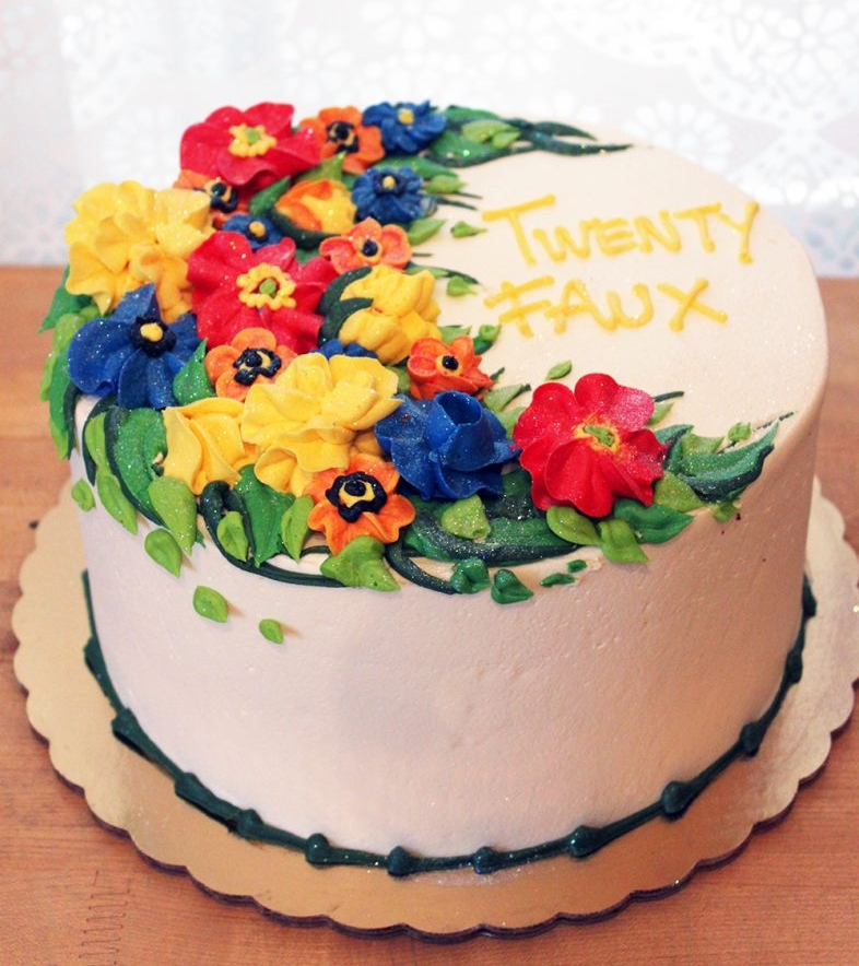 Buttercream Flowers 24 Cake