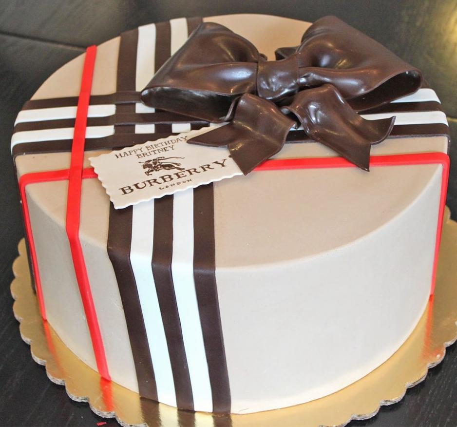 Burberry Designer Cake
