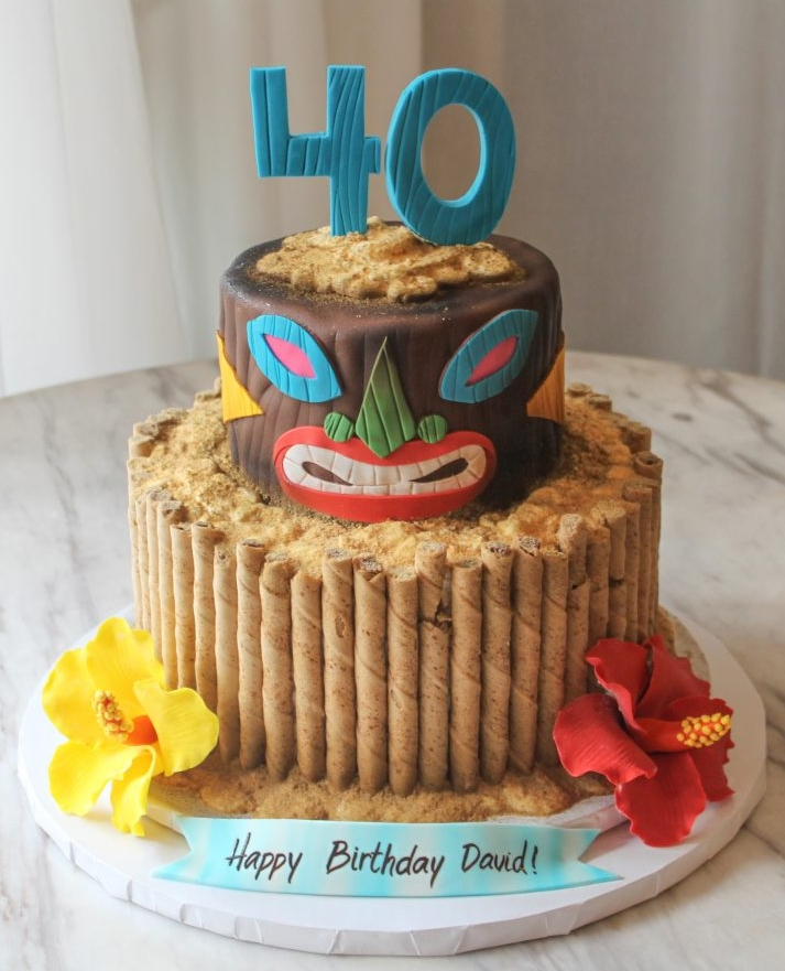 Beach Theme 40th Cake