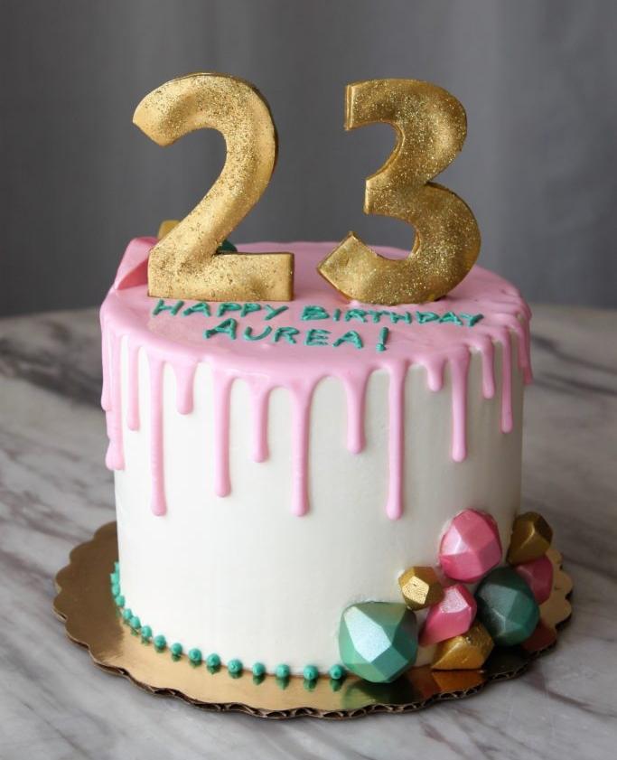 Pink Jewel Birthday Cake