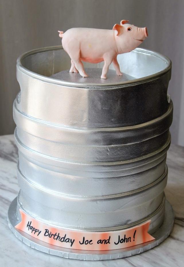 Pig Keg Cake