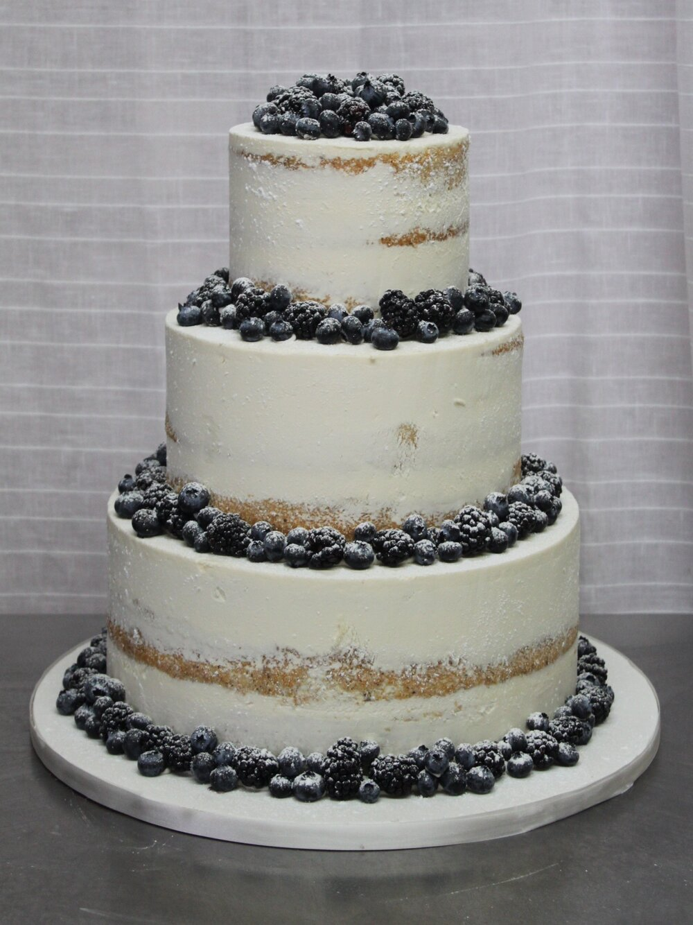 Semi-Naked with Blueberry Cake