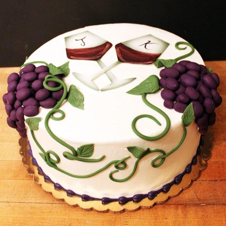 Wino Engagement Cake