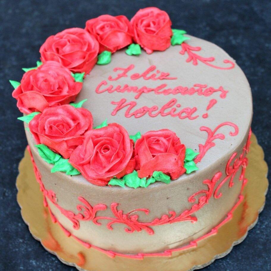 Spray of Roses Cake