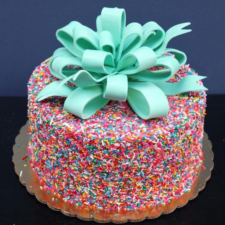 Sprinkle Bow Cake