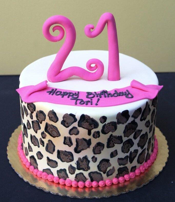 Hot Pink Leopard Cake