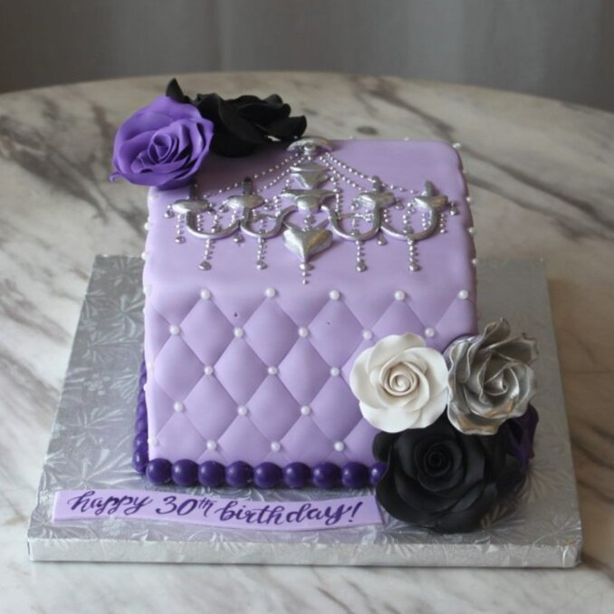 Elegant Purple Cake