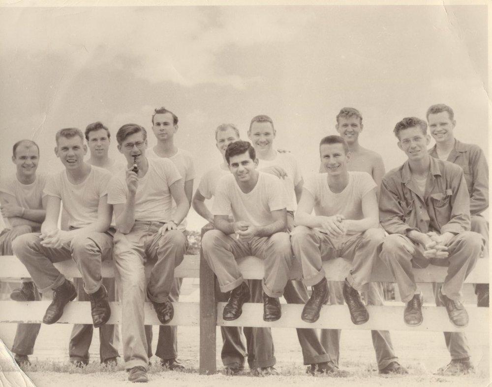 Duane Desler - shirtless, top right (Naomi's papa), US Air Force, Daegu, South Korea