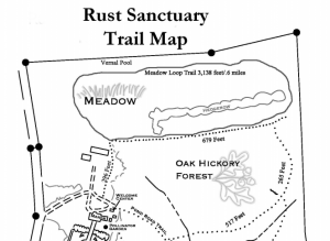 Best Walking Spots in Loudoun County Rust Sanctuary Trail Map