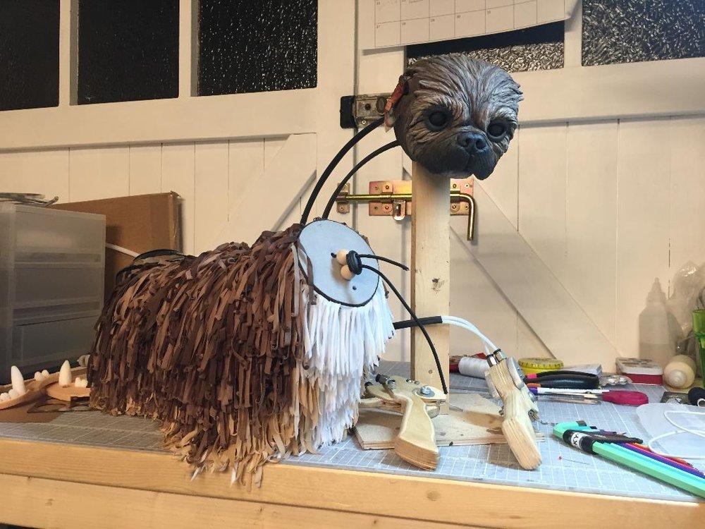 mechanical dog puppet