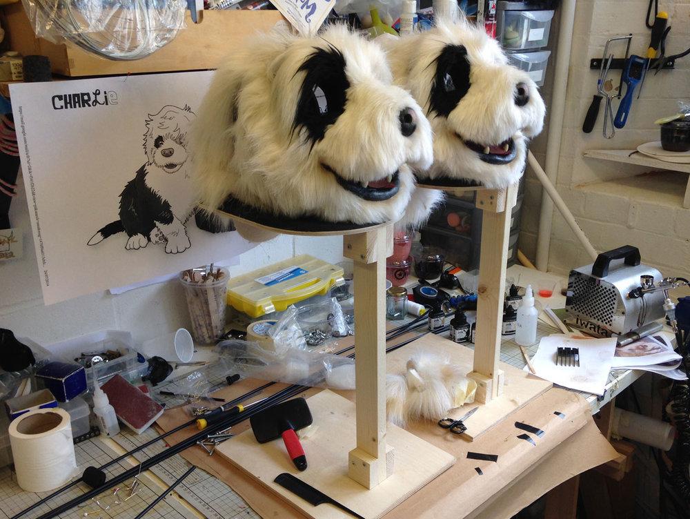 dog puppet heads