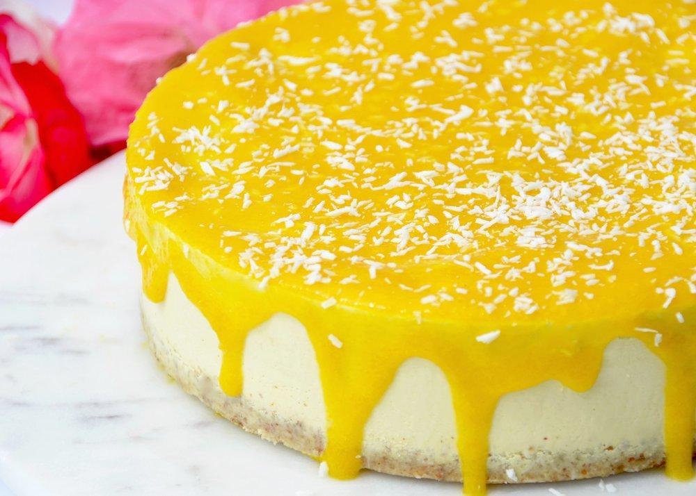 Peach and Cashew Cheesecake