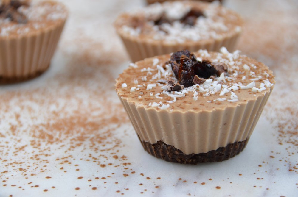 - If you cut the recipe in half, you can make twelve personal sized mini cashew cheesecakes using silicone muffin liners