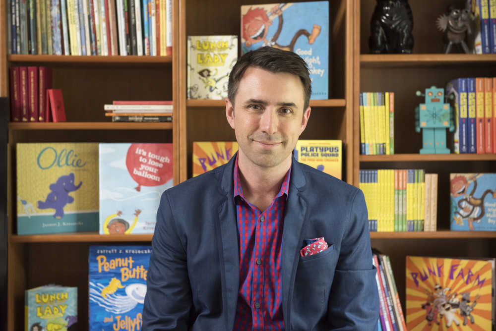 Jarrett J. Krosoczka, author of National Book Award for Young People Finalist  Hey, Kiddo