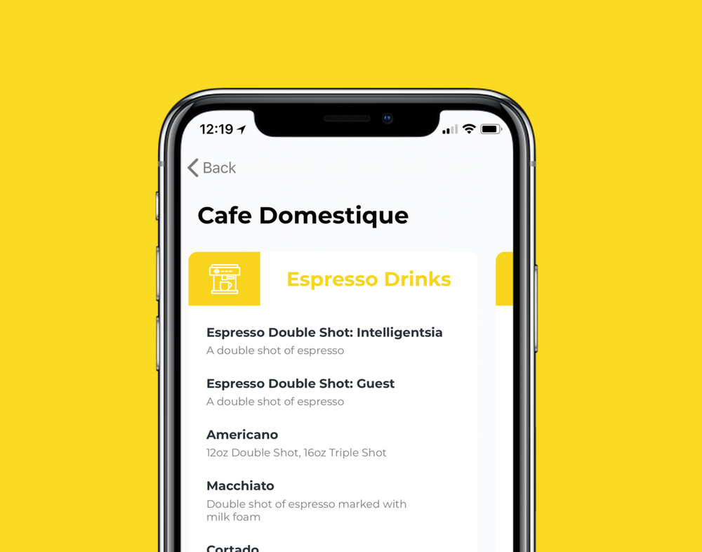Fast, easy... - See their menu, then customize your drink.Add flavors, swap out the type of milk, pour it over ice... your favorite shop can give you as many options as they want, so you can get your drink just the way you like it.
