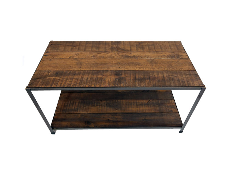 "New Orleans Series - Coffee Table  Made from reclaimed pallet wood and steel. Measures 20""(L) x 40""(W) x 20""(H). Multiple steel paint colors and wood finishes available. Part #: NOCT."