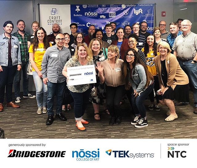 We wouldn't be able to bring all these fabulous ppl together without our sponsors! Shoutout to @teksystemsdigital, @nossicollegeart, @bridgestonetires & @nashtechcouncil ...we appreciate you!! - And thank you to @nashcontentweek, @carlaswankfox & @techfednash for hosting such an amazing week of content! - The Nashville tech scene is 🔥 ___ 📷: @thejessnelson