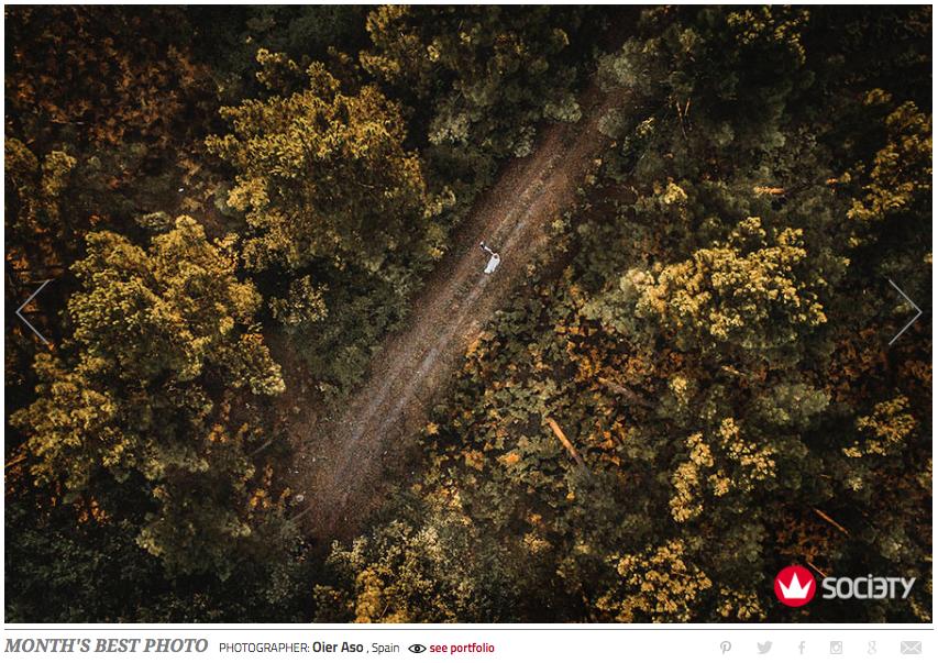 mejor fotografía premio drone fotografía de boda