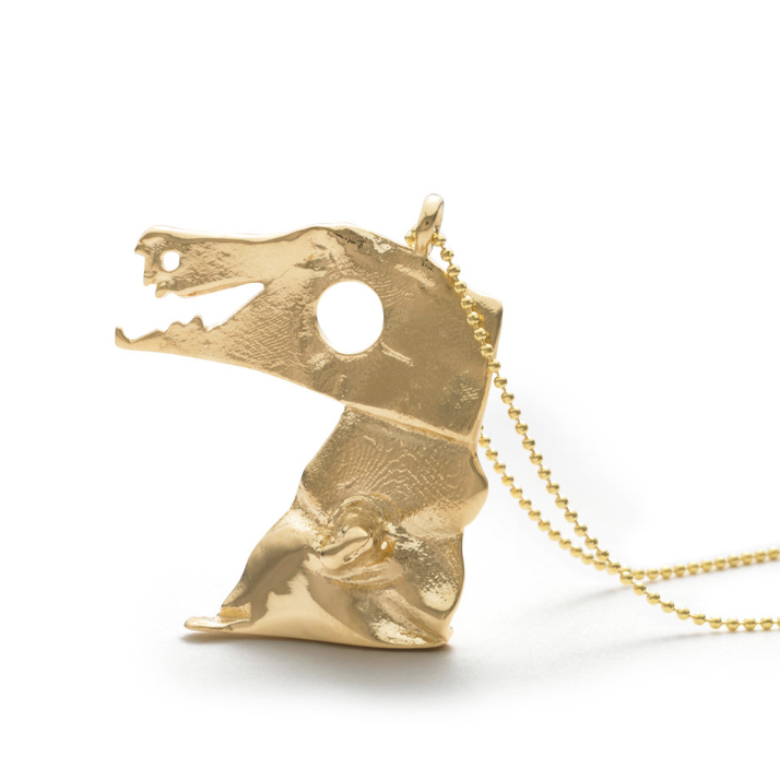 full-size gold pendant
