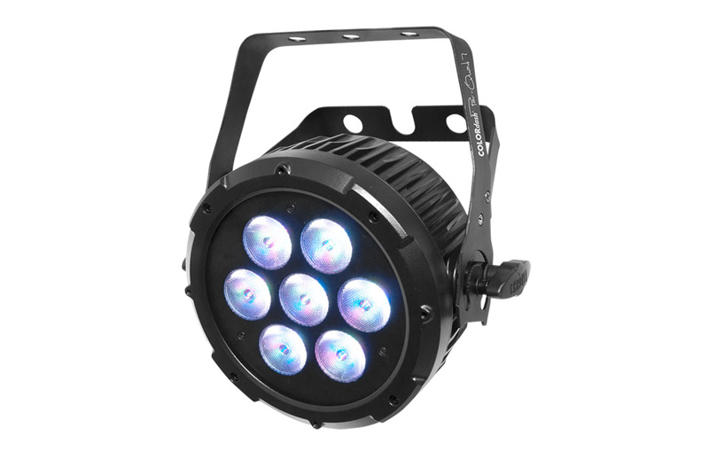 Chauvet COLORdash Par-Quad 7    Ultra-compact, COLORdash Par-Quad 7 fits in places where other fixtures cannot.