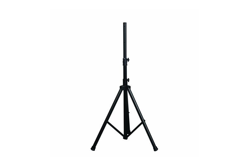 Speaker Stand    Raise the speakers with this adjustable stand and set them to around head height for the best sound coverage at your event.