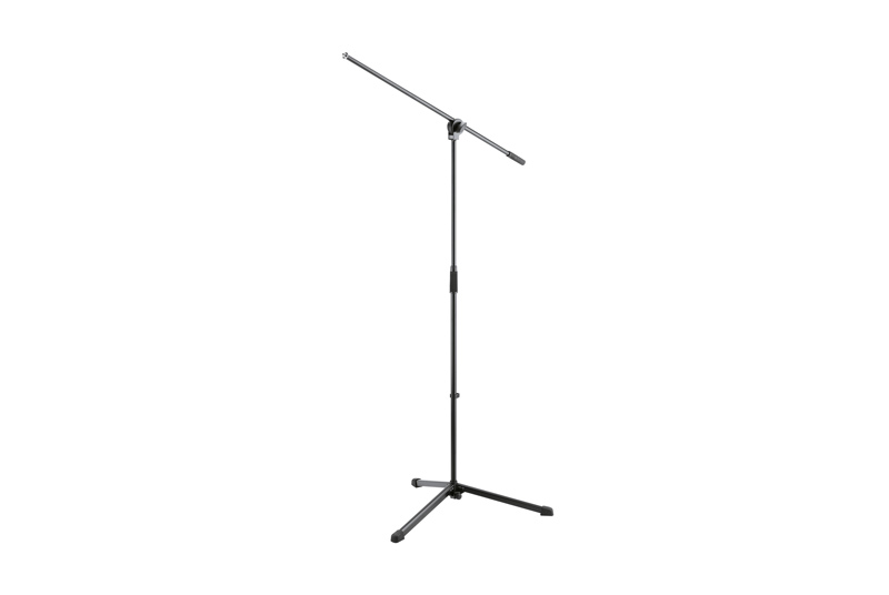 Mic Stand Tall    The practical swivel joint allows the one-piece boom arm to be simultaneously positioned for tilt and length.