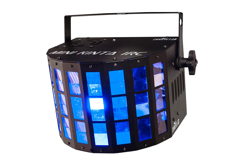 Chauvet Mini Kinta IRC    Mini Kinta is a powerful 3w LED disco effects light, with razor sharp beams that fill a room from floor to ceiling.