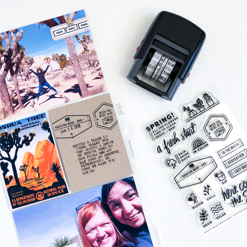 """""""OMG"""" sentiment from the All the Paper stamp set by Everyday Explorers."""