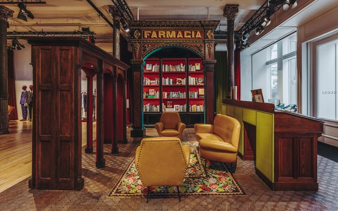 Gucci's new Wooster StREET store features a curated bookstore—VOGUE MAGAZINE - PRESS NOVEMBER 2018