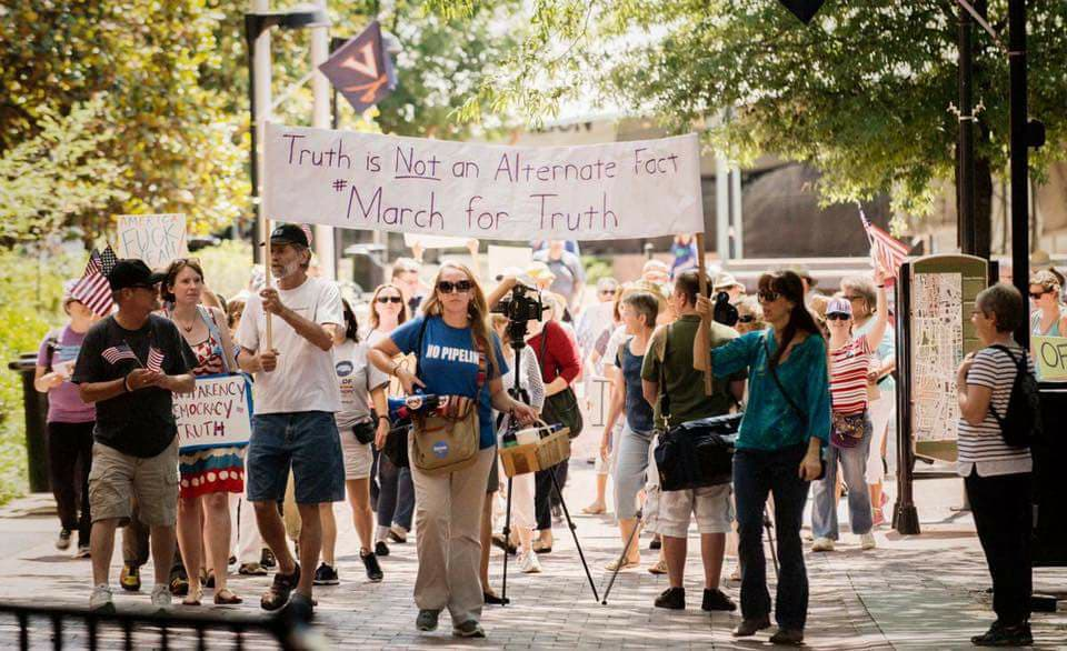 "At the March for Truth: ""Truth is Not an Alternate Fact"""