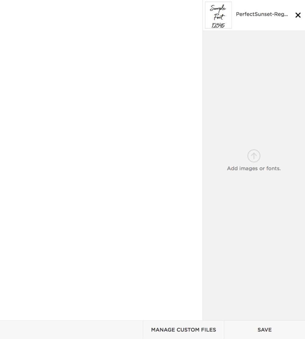 Manage Custom Files on CSS Editor