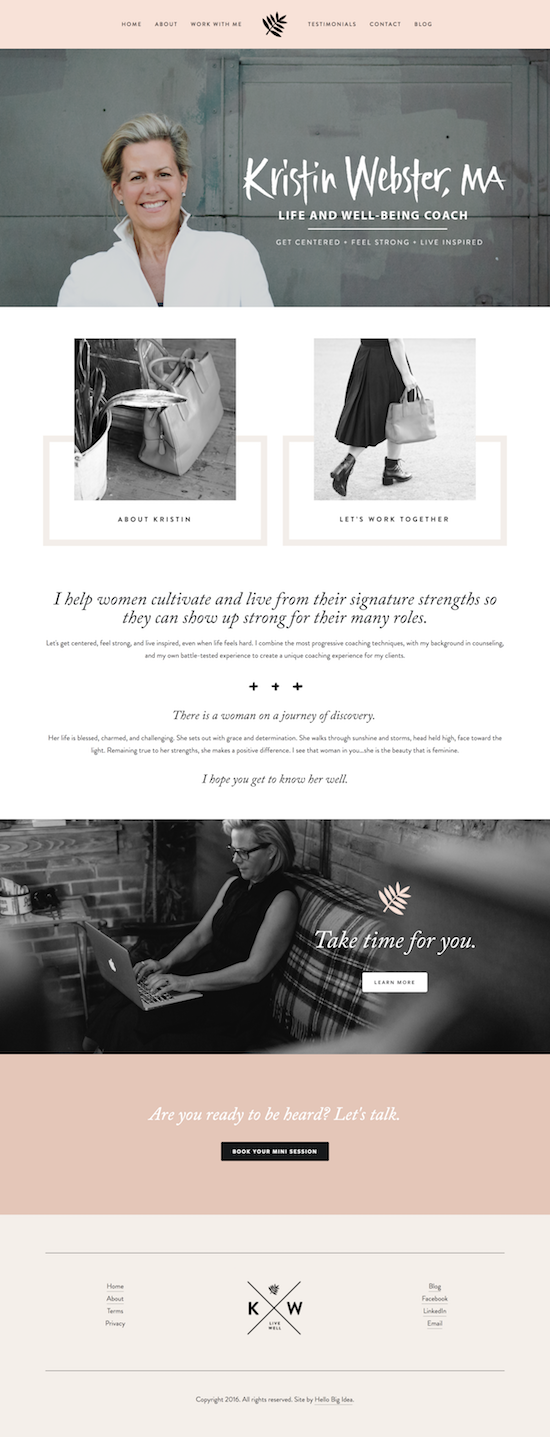 Kristin Webster Squarespace Website