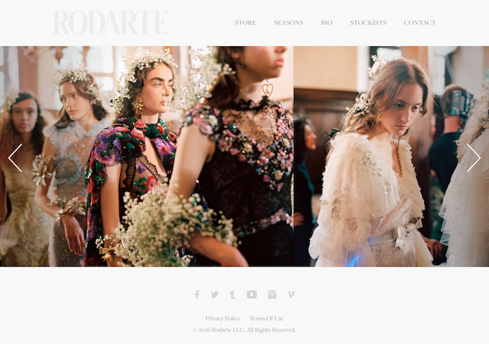 Rodarte Squarespace Website