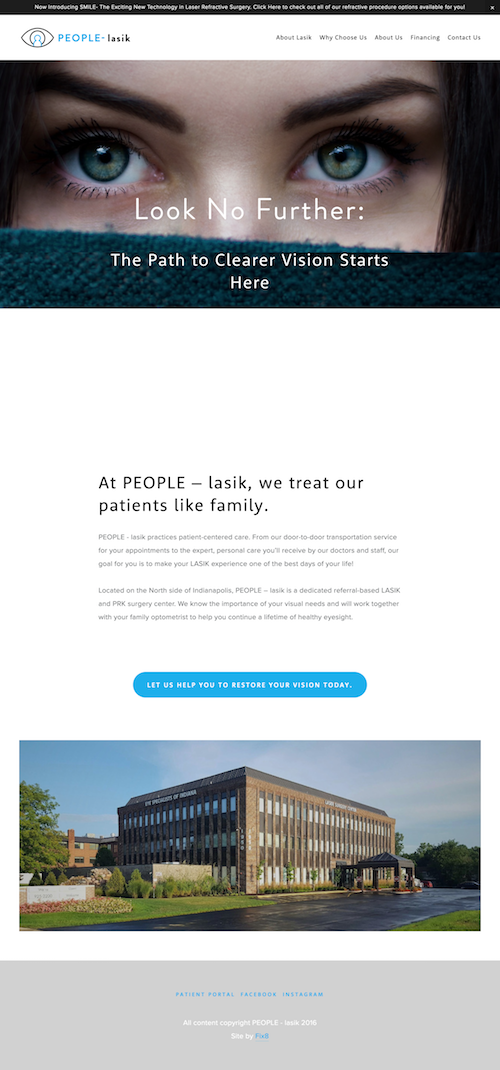 People LASIK Squarespace Website