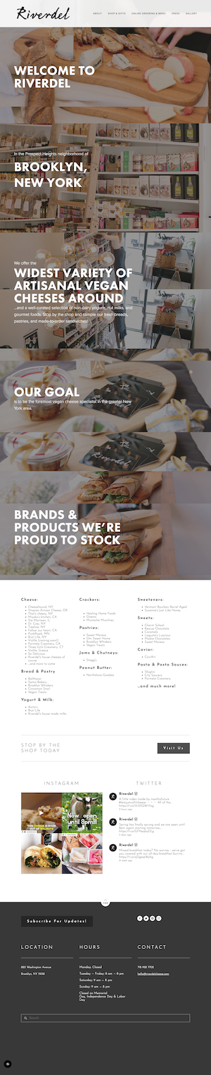 Riverdel Squarespace Website