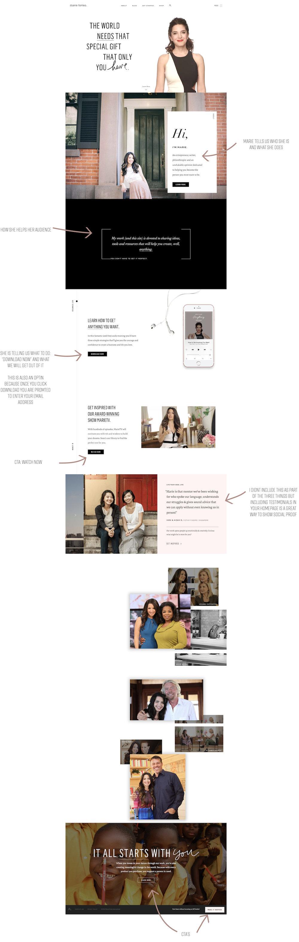 Marie Forleo's Homepage