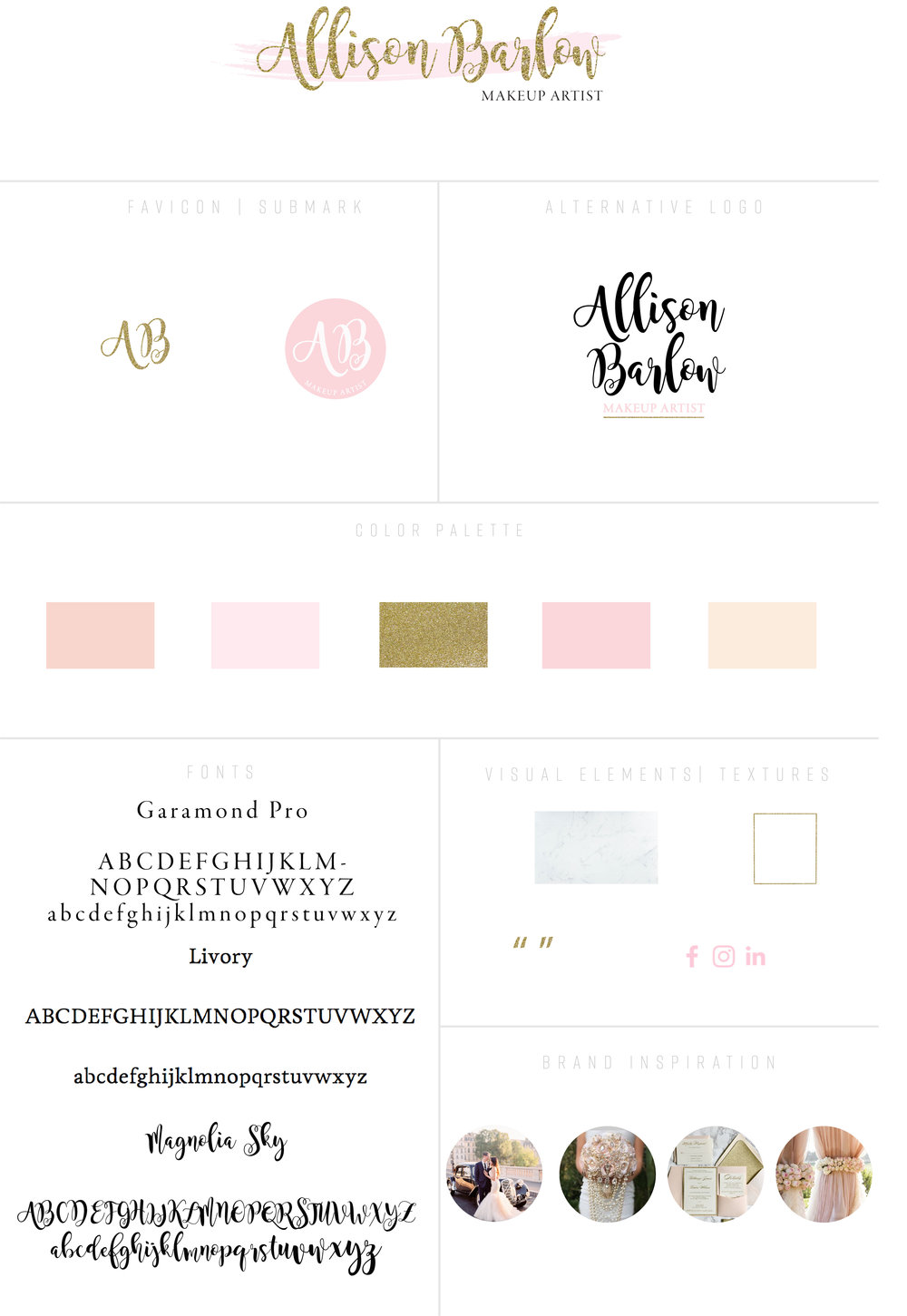 Branding Style Board- Allison Barlow