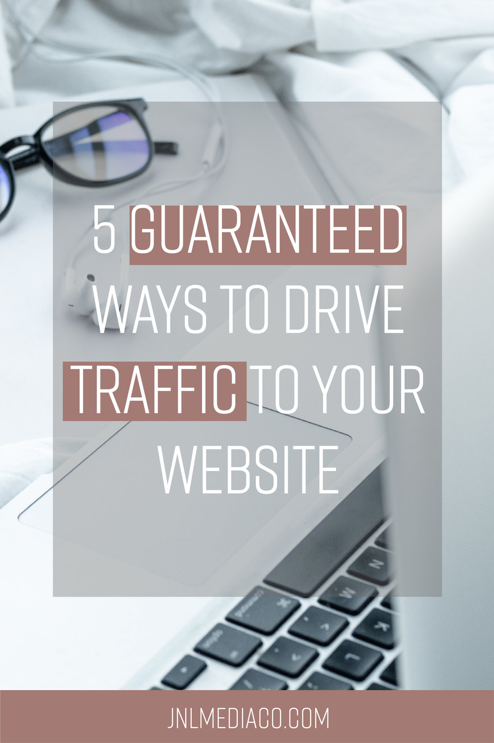 What happens when you invest money in creating a beautiful website and brand and then no one even looks at it? Not the ideal scenario so let's talk about the 5 Guaranteed Ways To Drive Traffic To Your Website.